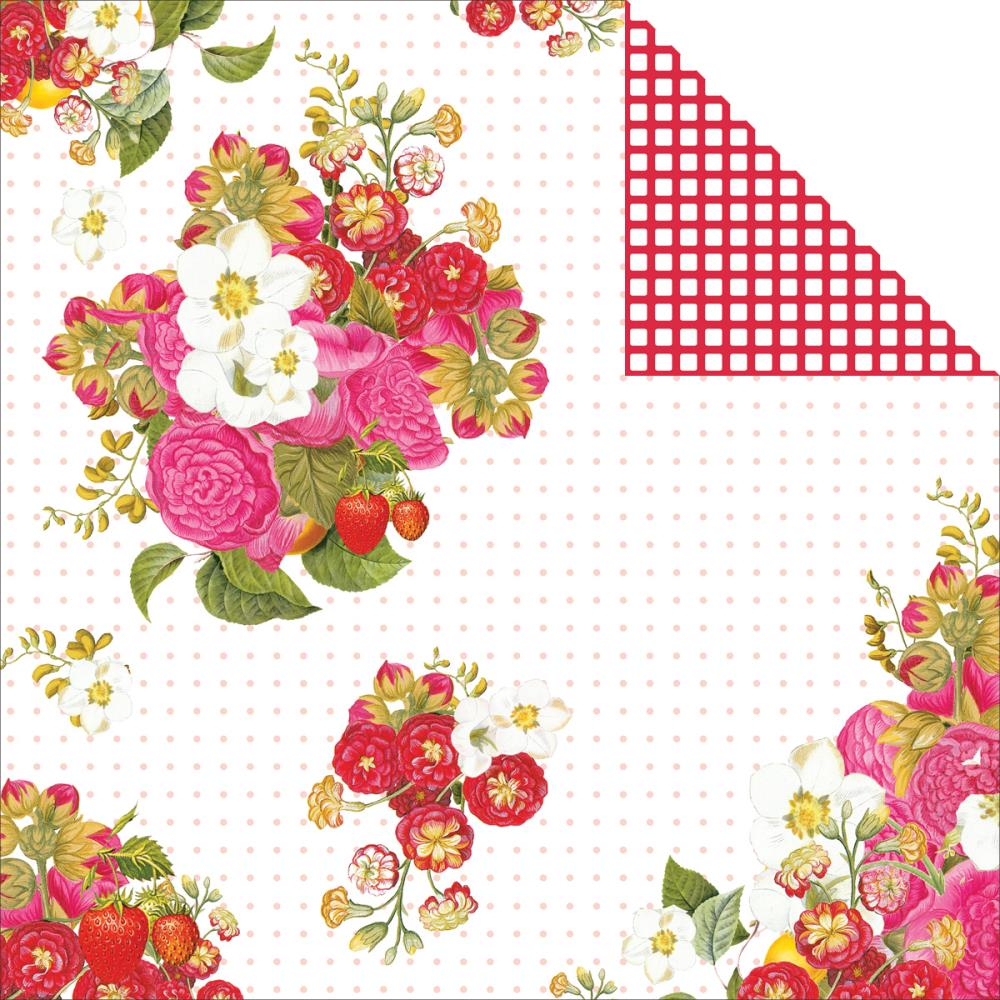 Webster's Pages Picking Berries 12 X12 Cardstock