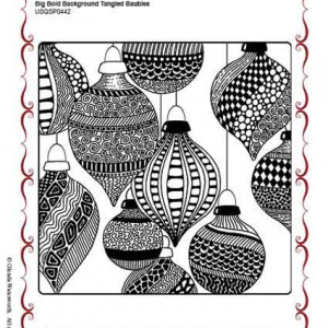 Chocolate Baroque - Big Bold Backgrounds - Tangled Baubles
