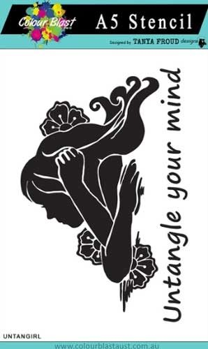 Bee Arty Untangle Collection - Untangle Girl A5 Stencil
