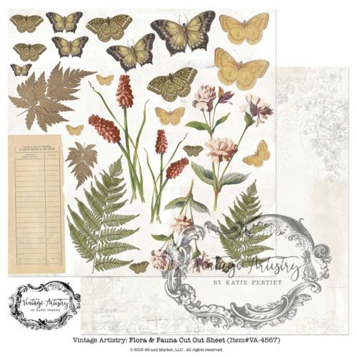 49 and Market - Vintage Artistry Flora and Fauna Cut Out Sheet