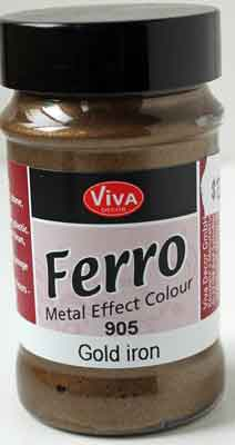 Viva Decor Ferro Metal Effect Textured Paint -  Iron Gold