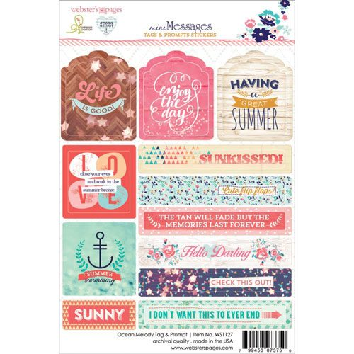 Webster's Pages Ocean Melody Tags and Prompts Stickers