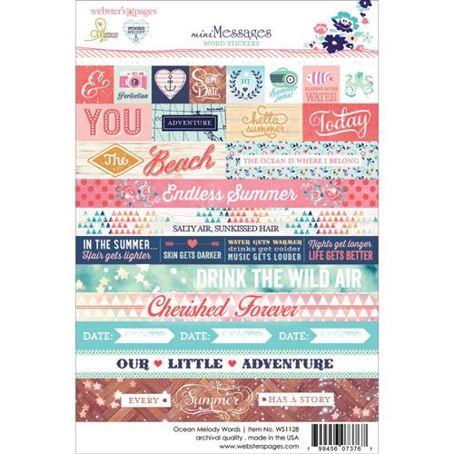 Webster's Pages Ocean Melody Words Sticker Sheet