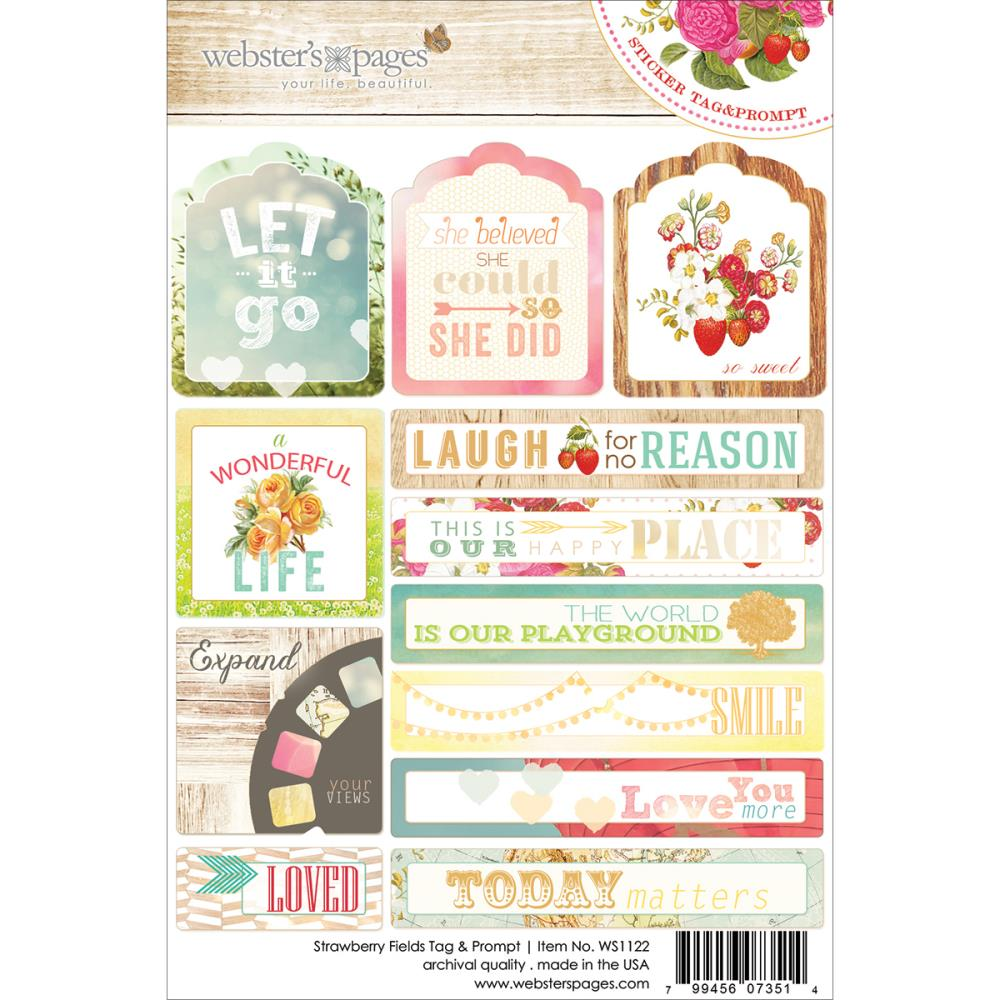 Webster's Pages Strawberry Fields Tags and Prompts